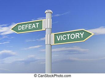 3d, 印, 勝利, 道, 敗北