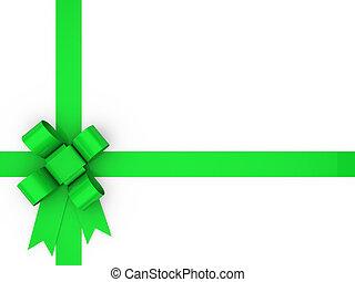 3d, 圈, 綠色