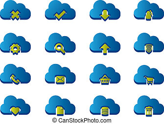 3d, 圖象, 為, 雲, 計算