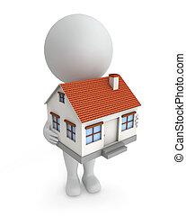 3d, 家, people-, セール, かわいい