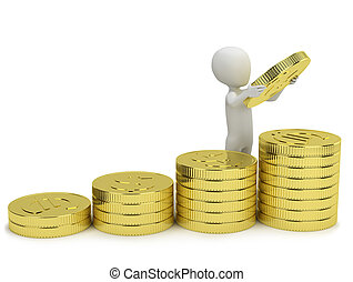 3d, 小さい, 人々, -, 増加, profits.