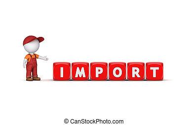 3d, 小さい, 人, そして, 単語, import.