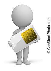 3d, 小, 人們, -, sim, 卡片