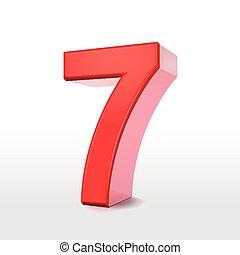 3d, 数7, 赤