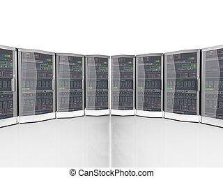 3d, 數据, 网絡, 電腦, 服務器