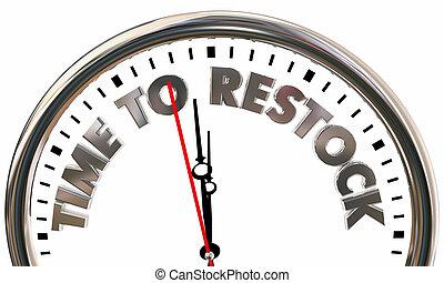 3d, 時計, 時間, プロダクト, restock, 売られた, イラスト, reorder, 商品, から