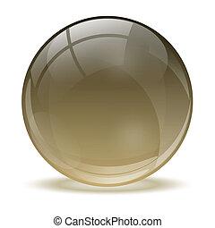 3d, 水晶, 球