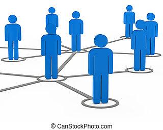 3d, 社会, ネットワーク, チーム