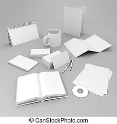 3d, 空白, 公司, 標識符號, 元素, 設計