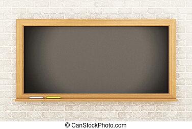 3d, 空, blackboard., 教育, concept.
