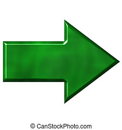 3d, 緑, 矢