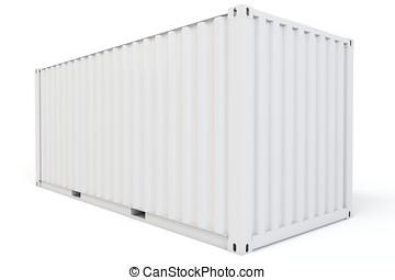 3d, 貨物容器, 空白
