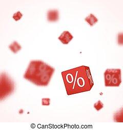 3d, 赤, 割引, 箱, さいころ, ∥ために∥, 店, 市場, そして, shop., セール, 昇進, 概念