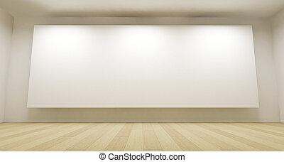 3d, 部屋, ∥で∥, 白, 背景, きれいにしなさい, スペース