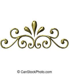 3d, 金, 装飾