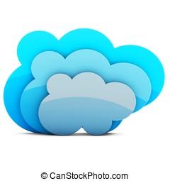 3d, 雲, 貯蔵