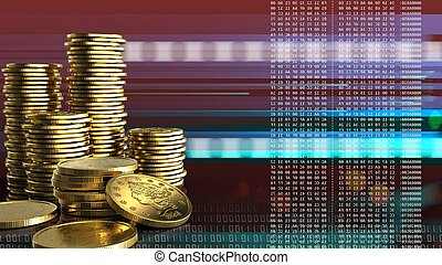 3d, 黃金, 硬幣