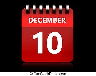 3d 10 december calendar