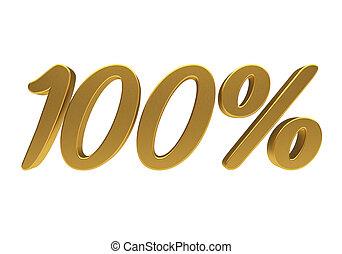 3d, 100 cento, isolado