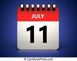 3d 11 july calendar