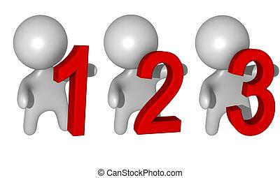 3d 1,2,3 figures