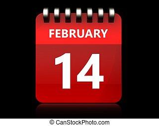 3d 14 february calendar