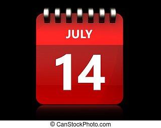 3d 14 july calendar