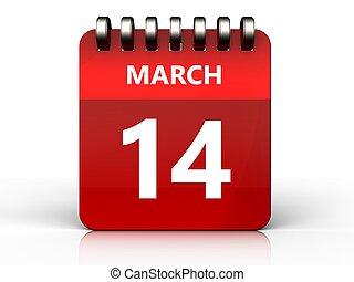 3d 14 march calendar