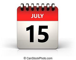 3d 15 july calendar