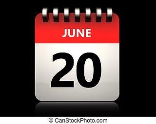 3d 20 june calendar