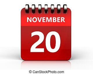 3d 20 november calendar