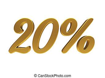 3D 20 percent isolated - 20 percent off. Discount 20. 3D...
