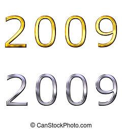 3d, 2009, כסף, זהב, שנה