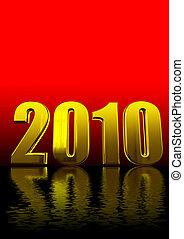 3d, 2010, testo, su, rosso, e, nero