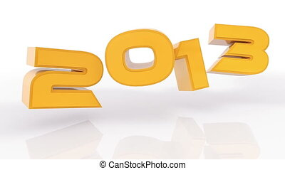 3D 2013 year golden with alpha luma