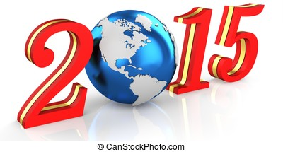 3d 2015 text new year concept