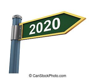 3d 2020 road sign