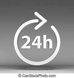 3d 24 hours icon