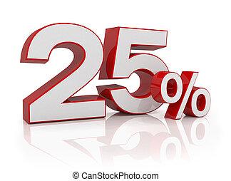 3d - 25 percent - red
