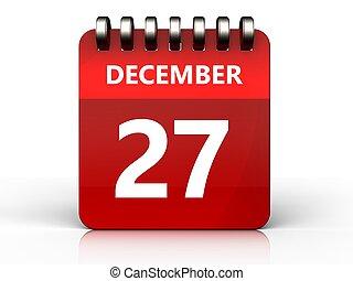 3d 27 december calendar