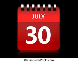 3d 30 july calendar