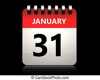 3d, 31, 1 月, カレンダー
