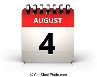 3d 4 august calendar