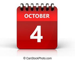 3d 4 october calendar