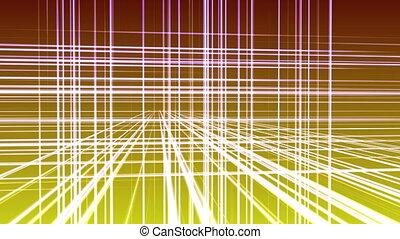 3d, 4k, espace, géométrie, ligne