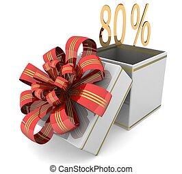 3d 80% discount concept