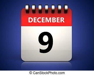 3d 9 december calendar