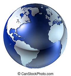 3d, aarde, structuur