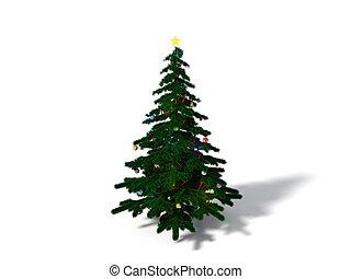 3d, abbildung, von, weihnachten, baum., begrifflich, design.