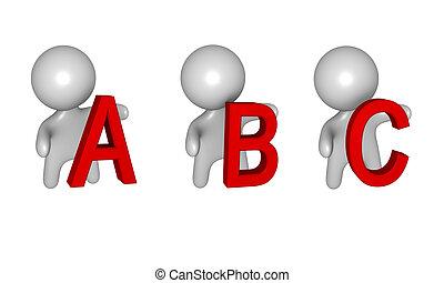3d A,B,C figures